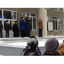 1 февраля 2019. Ильиногорск. Митинг в честь 75 годовщины прорыва Ленинградской блокады.