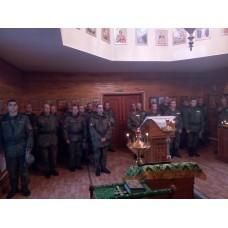 3 октября 2019. Божественная Литургия в Сергиевском храме дисциплинарного батальона № 28 (в/ч 12801).