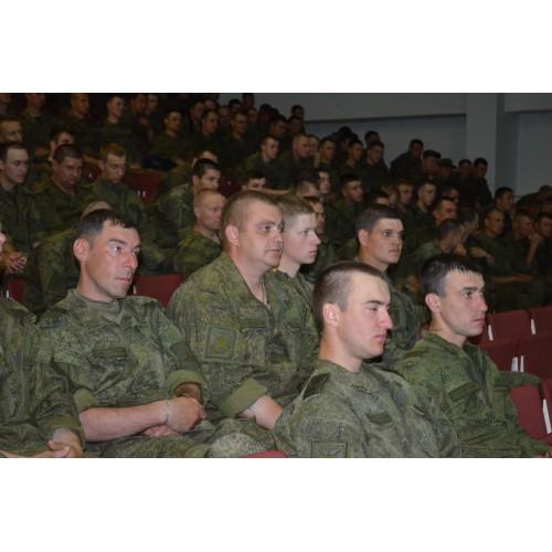 4 июня 2018. Новосмолинский. Беседа с военнослужащими.