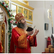 5 апреля 2018. Поздравление епископа Варнавы с Пасхой.