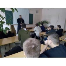 6 марта 2019. Новосмолинский. Беседа со студентами.