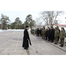 10 апреля 2018. Священник благословил начало окружного этапа конкурса «Рембат-2018».