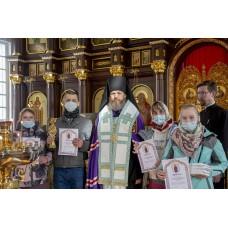 12 марта 2021. Епископ Варнава в лыжной гонке.