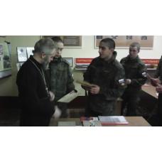 15 февраля 2017. Вручение свидетельств о Крещении военнослужащим.