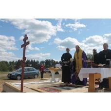 20 июня 2018. В поселке Центральный Володарского района состоялась закладка нового храма.