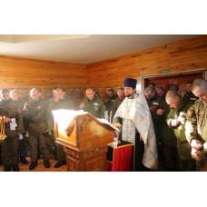 21 января 2019. Праздник Богоявления в воинской части.