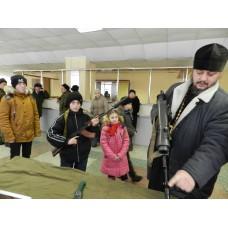 23 февраля 2017. Мулино. Воскресные школы посетили войсковые части.