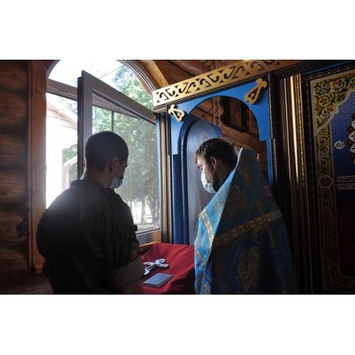 24 июня 2021. Служба в воинском храме.