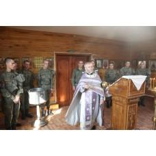 24 сентября 2018. Служба в воинском храме.