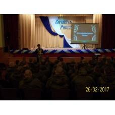 26 февраля 2017. Встреча священника с военнослужащими.