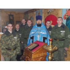 26 октября 2017. Молебен Пресвятой Богородицы и занятие по Основам православной веры в воинской части.