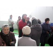 30 октября 2017. Молебен в физкультурно-оздоровительном комплексе (ФОК) города Володарск.